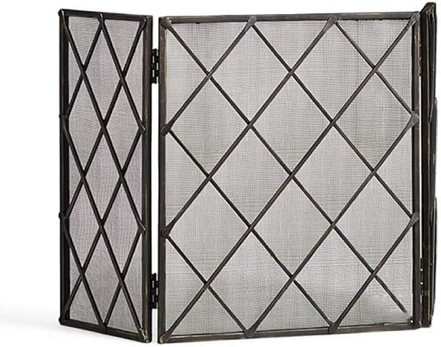 HIZLJJ Single Panle Fort Worth Mall 67% OFF of fixed price Fireplace Screen Cover Spark Guard with Wrou