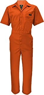 Natural Uniforms Mens Short Sleeve Coveralls Zippered