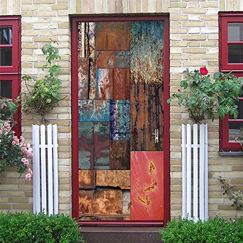 Moderne Design Tür Aufkleber Tapete Schokolade Klavier Pferd Selbstklebende Wohnzimmer Dekoration Wandkunst A5 77x200cm