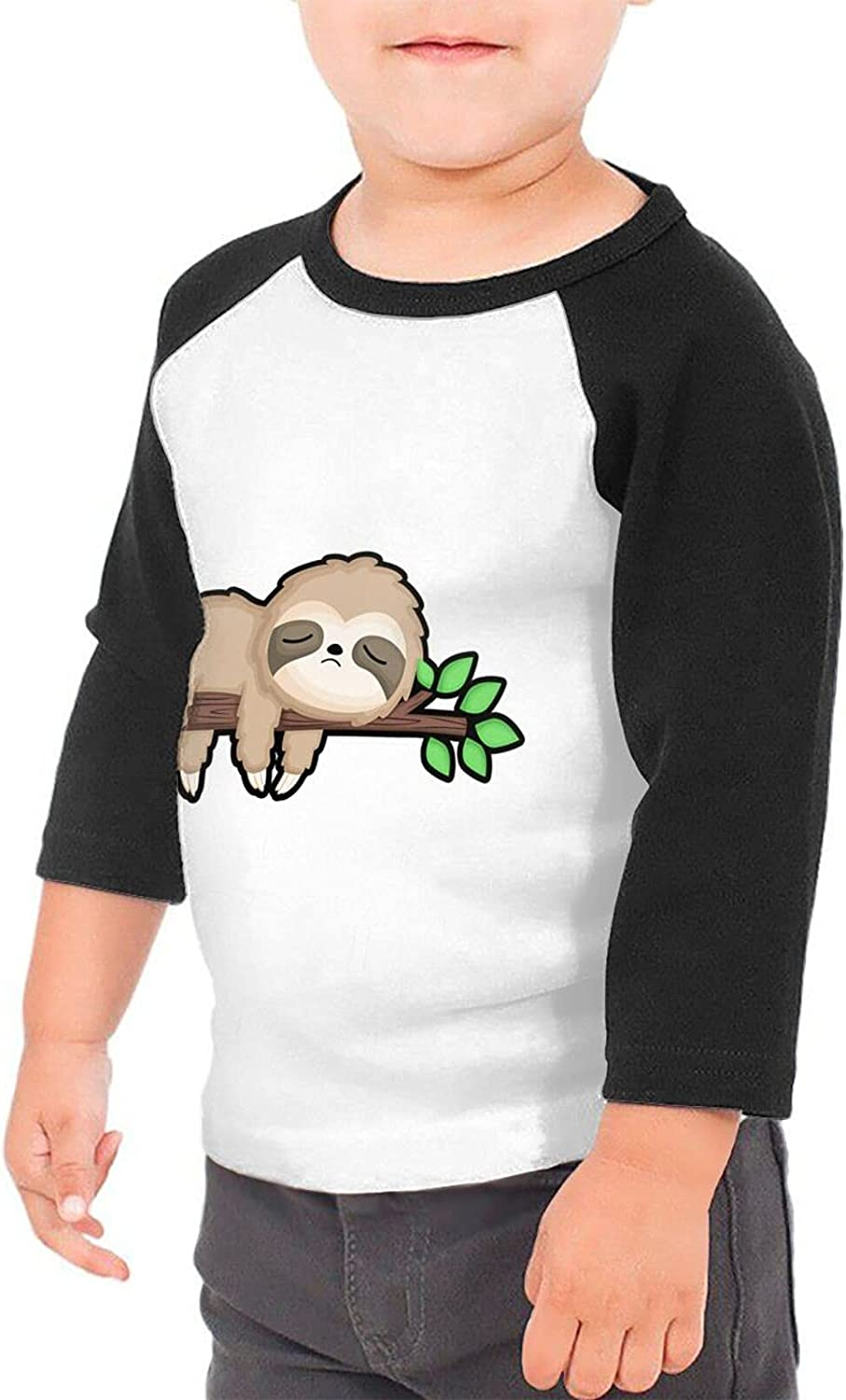 Lazy is A Strong Word I Like to Call It Selective Sloth T-Shirts Novelty for Kids Tees with Cool Designs