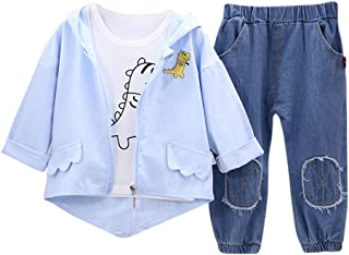Hopscotch Baby Boys Cotton and Polyester Full Sleeves Applique Solid T-Shirt, Hoodie and Pant Layering Set in Blue Color