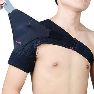 JM-Y Shoulder Brace for Men with Rotator Cuff Support and Adjustable Compression Sleeve Tendonitis and Fracture - Shoulder Compression Sleeve with Pressure Pad