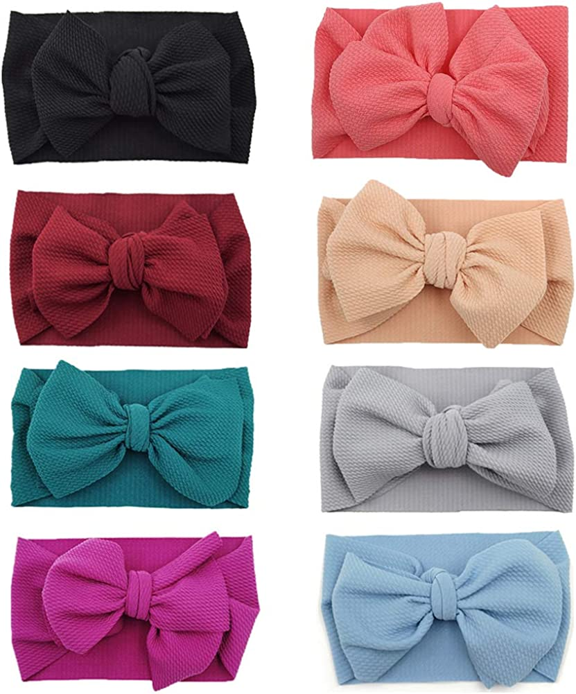 Baby Free shipping on posting reviews Girl Limited price sale Bow Headbands Newborn Hairband Ela Knotted Turban