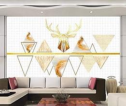 Wallpaper 3D Abstract Triangle Deer Modern Head Decoration Home Bedroom Box Decoration Salon 3D Behang Slaapkamer Decorati...