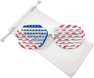 45c2e055342a TERAISE Classic American Flag Sunglasses Aviator Patriot Glasses USA-Womens  Mens Fashion
