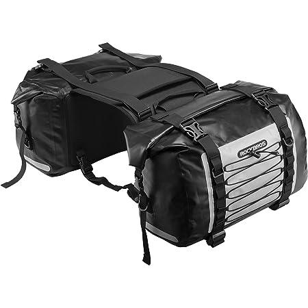 ROCKBROSサイドバッグ バイク ツーリングバッグ 完全防水 62L左右セット 取り付け簡単 バイク用 サドルバッグ 耐摩耗性 キャンプツーリング