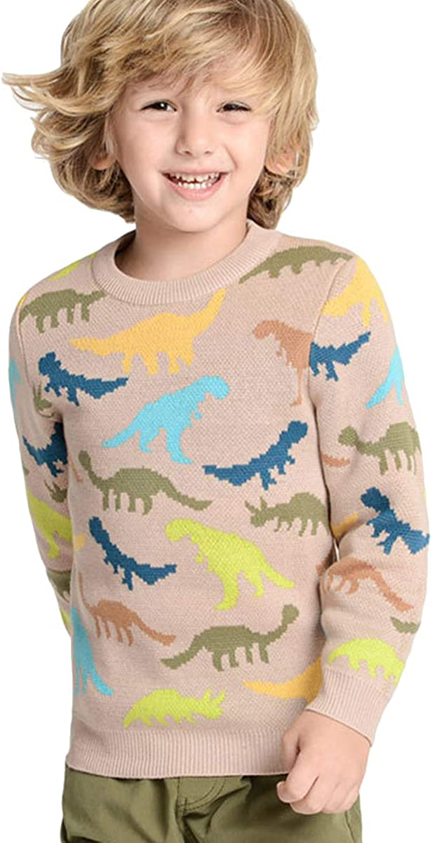KANTAN Little Indefinitely Boy Knit Pullover Cartoon Online limited product Pure Cotton Sweaters Tod