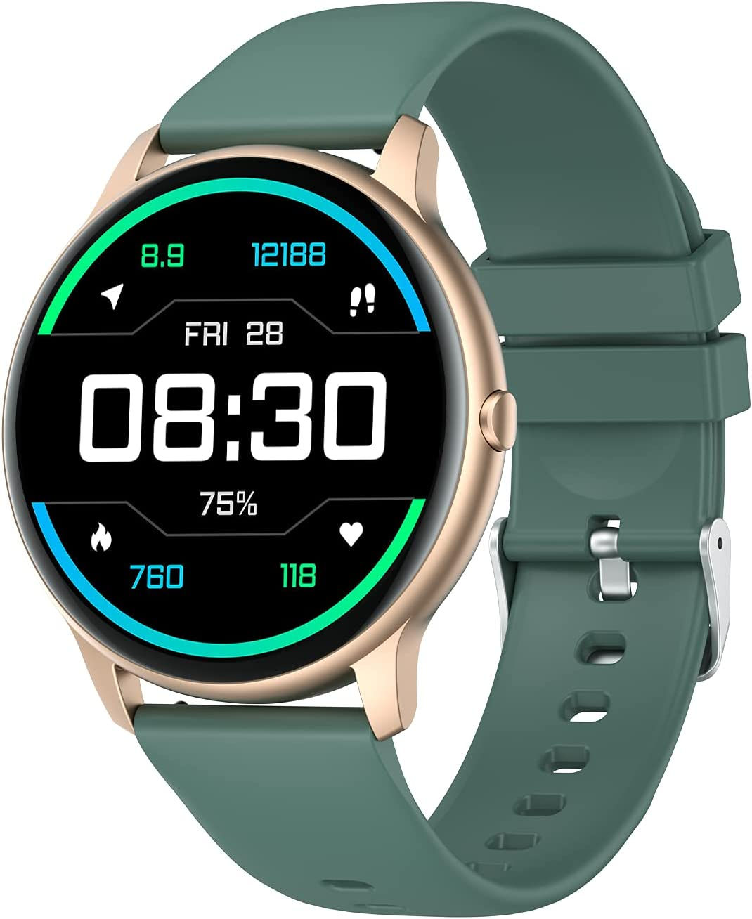YAMAY Award Smart Watch Compatible iPhone and Fashion IP68 Android Wate Phones
