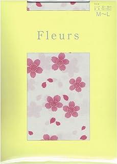 (フルール) Fleurs 50デニール 和柄 サクラ プリント タイツ (パンスト タイプ) M-L
