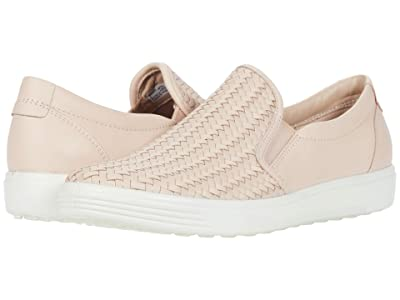 ECCO Soft 7 Woven Slip-On II (Rose Dust) Women