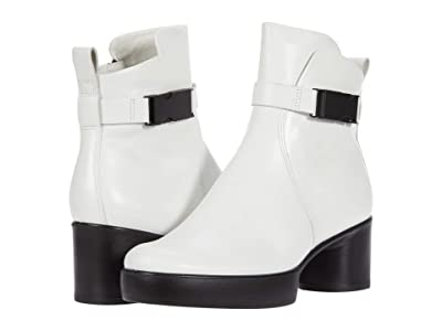 ECCO Shape Sculptured Motion 35 Buckle Boot (Bright White) Women