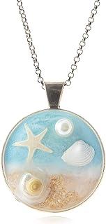 Ocean Breeze- Collar estrella de mar |Cadena de plata | Joyas de arena de playa | Boho | Regalos de surfista para ella | 26UL