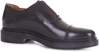 Luxury Fashion | Santoni Men MGWB15803NERIOLCN01 Black Leather Lace-up Shoes | Season Outlet