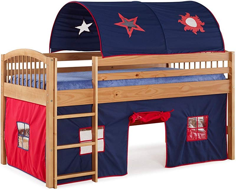 Alaterre Addison Junior Loft Bed With Tent And Playhouse