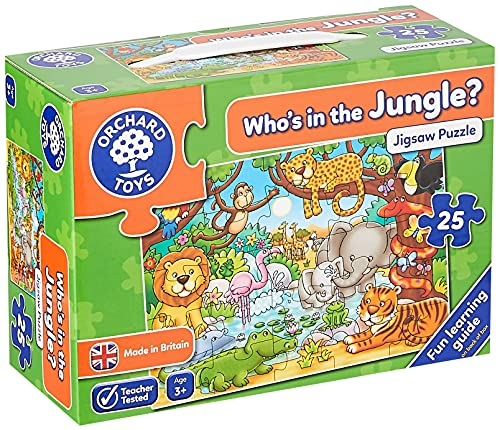 Orchad Toys 216 - Puzzle Who's in The Jungle? (25 Piezas, Idioma inglés)