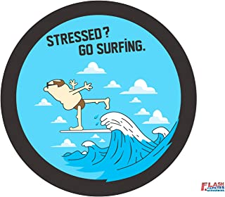Capa de Estepe CrossFox Flash Tapetes & Acessórios STRESSED? GO SURFIN ARO15 COM CADEADO