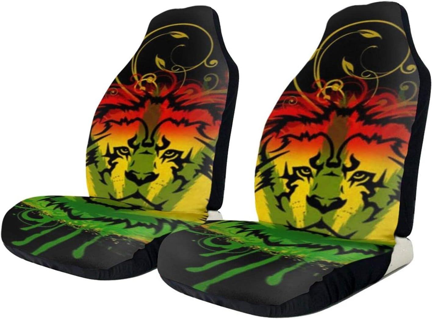 BCVDGFKJ Marijuana Leaves Rasta Lion Cannabis se price PCS New product!! 2 Front car
