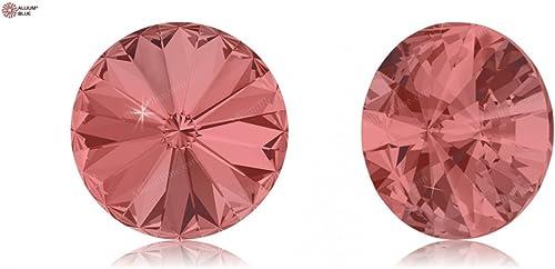 Cristales de Swarovski 879867 Piedras rojoondas 1122 SS 47 PADPARADSCHA F, 288 Piezas