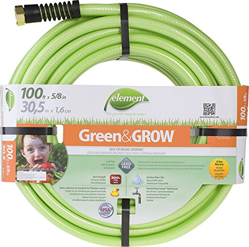"Swan Products ELGG58100 Element Green & Grow Lead-Free Gardening Hose 100' x 5/8"", Green"