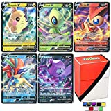 Totem World 5 Pokemon V Cards and Totem Deck Box - No Duplicates