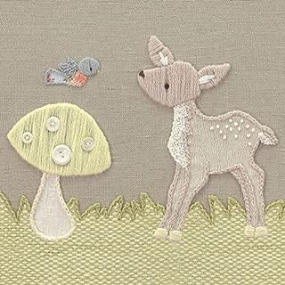 Oopsy Daisy Fine Art for Kids Vintage Meadow Friends Deer Canvas Wall Art by Kristen White, 14 x 14