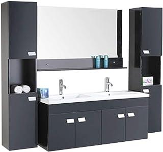 RO SRL Meuble Salle DE Bain Modele Elegance 120 Cm Double Vasque Luxe