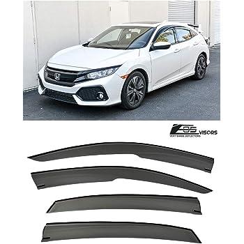 for Honda Civic Hatchback 2017-19 3D JDM STYLE WINDOW VISOR VENT SHADE Deflector