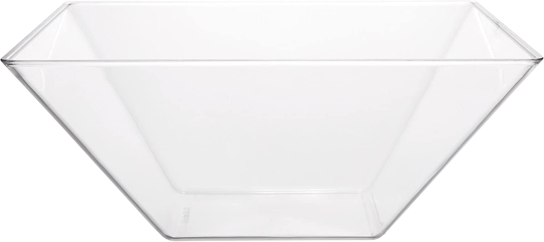 Break High order Resistant Premium Square Super intense SALE Design Clear Acrylic Bowl Serving