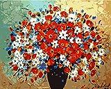 Pintura al óleo por números, novedades – DIY pintura al óleo por números, kit de pintura por números, hermosa flor 16 x 20 pulgadas, pintura al óleo digital para pared, arte gráfico para el hogar, salón, oficina, decoración navideña, regalo de bricolaje, color por número, kit de lona para adultos ampliados, niños, ancianos, jóvenes, nuevos llegados - No. D95