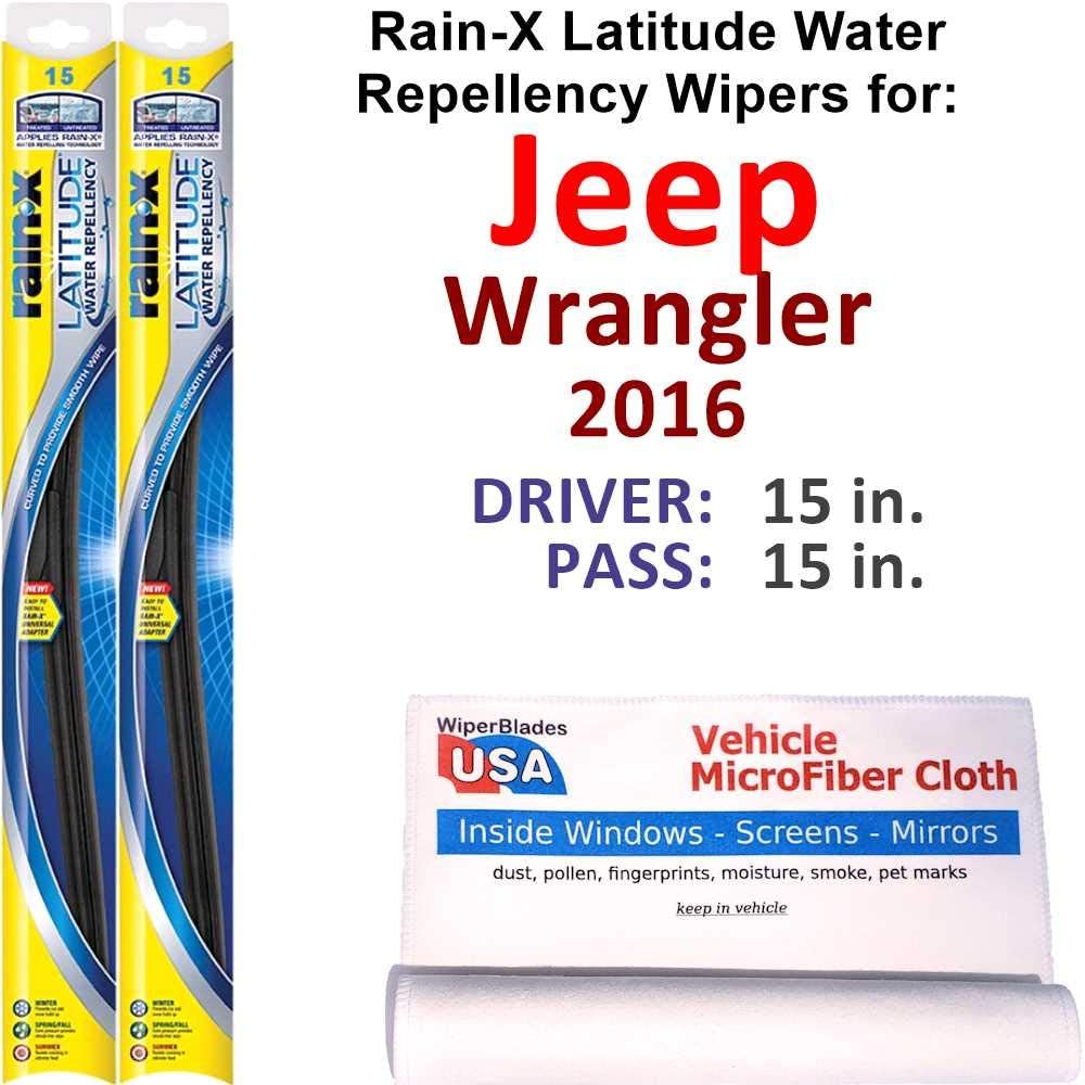 Rain-X Latitude Beam w Water Repellency for 2016 S 55% OFF Louisville-Jefferson County Mall Wrangler Jeep