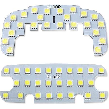 2LOOP(ツーループ) 3チップSMD2点 ハイゼットカーゴ S320V S330V S321V S331V クルーズ クルーズターボは不可 ビジネスパックの場合交換可 ハイゼット カーゴ LEDルームランプ -純白光