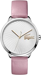 Lacoste Lexi Women's Silver Dial Leather Band Watch - 2001057