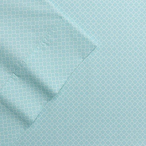 The Big One Percale Sheet Set (Queen, Gray Trellis), 275 Thread Count, 4PC Set, 17' Pockets, PIMA Cotton Blend, Easy Care