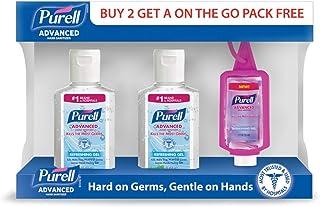 Purell Advanced Hand Sanitizer Refreshing Gel Pump Bottle, 2 x 59 ml And Purell Jelly Wrap, 1 x 30 ml