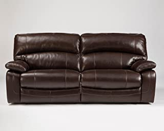 Signature Design by Ashley Damacio Dark Brown 2 Seat Power Reclining Sofa
