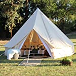 TentHome 4-Season Waterproof Cotton Bell Tent With Stove Hole on Roof Glamping Tent for Camping Travel Christmas Party 3