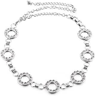 Torostra Womens Waistband Chain Belt Plated Waist Chain Belt for Dress