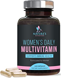 Multivitamin for Women, Multivitamin and Multimineral Supplement with Vitamins D, C, B6, B12, Biotin, Calcium, Folic Acid,...