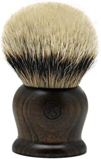 Super Density Silvertip Badger Hair Shaving Brush 40MM Knot Ebony Handle Handmade by Frank Shaving