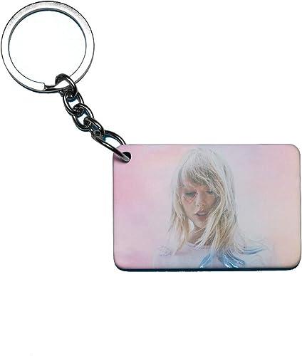 Taylor Swift Theme Fan Art Printed Rectangle Wodden Keyring Keychain for Bag Wallet Purse HIKTSKR019
