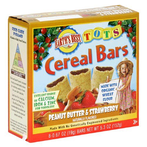 Earth's Best Tots Popular popular Cereal Bar 5.3- Butter quality assurance and Peanut Strawberry