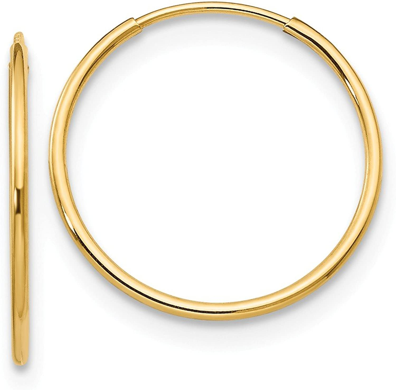 Beautiful Yellow gold 14K Yellowgold 14k Madi K 1mm Hoop Earrings