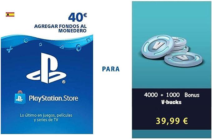 PSN Credito para Fortnite 2800 V-Bucks | Código de descarga PS4 - Cuenta española: Amazon.es: Videojuegos
