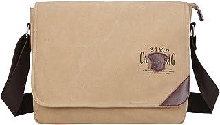 Super Modern para Hombre Lienzo Bolsa de Hombro Messenger Bag, Bolsa de Ordenador portátil Bolsa Bandolera de Bolsa de Oso...