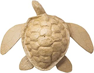 OneWorld Memorials Sea Turtle Paper Biodegradable Cremation Urn - Large - Holds Up to 200 Cubic Inches of Ashes - Brown Biodegradable Cremation Urn