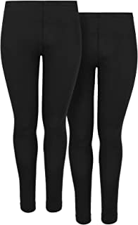 Yours Clothing Womens Leggings Full Length Soft Basic Twin Pack Plus Size