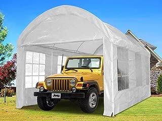 Quictent 10'x20' Heavy Duty Carport Gazebo Canopy Garage Car Shelter White