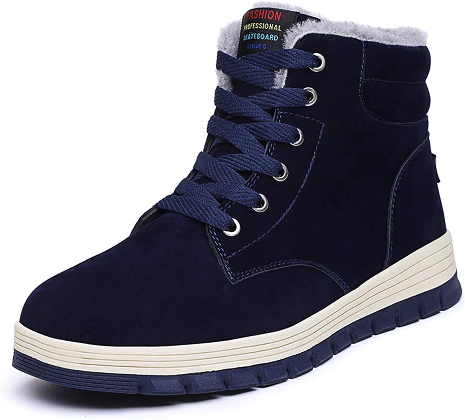 Wetrics Snow Boots Men Fur Lined Leather Winter Sneakers Ankle Booties Lace Up Outdoor Sports shoes