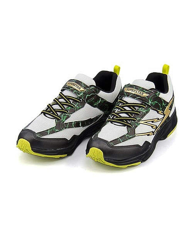 [スーパースター] バネのチカラ 男の子 キッズ 子供靴 運動靴 通学靴 ランニングシューズ スニーカー イナズマスプリンター クッション性 3E 幅広 カジュアル デイリー スポーツ スクール 学校 SS J3082