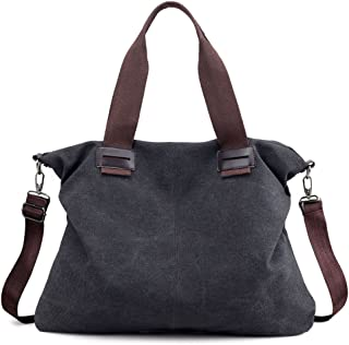 5c83d197eb3a Women s Canvas Shoulder Bags Crossbody Tote Purse Work Travel Weekender Bag